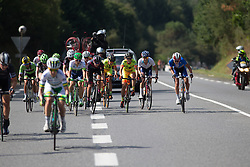 Katarzyna Niewiadoma (POL) of Rabo-Liv Cycling Team covers an attach in the penultimate lap of the 121.5 km road race of the UCI Women's World Tour's 2016 Grand Prix Plouay women's road cycling race on August 27, 2016 in Plouay, France. (Photo by Balint Hamvas/Velofocus)