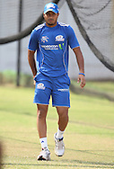 Aditya Tare  during the Mumbai Indians training session held at Kingsmead Stadium in Durban on the 15 September 2010..Photo by: Steve Haag/SPORTZPICS/CLT20.