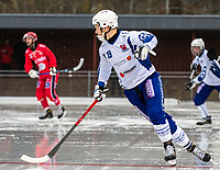 2018-11-11 | Jönköping, Sweden: Åtvidaberg BK (19) Jaako Niemi during the game between Jönköping Bandy IF and Åtvidaberg BK at Råslätts IP ( Photo by: Marcus Vilson | Swe Press Photo )<br /> <br /> Keywords: Råslätts IP, Jönköping, Bandy, Div. 1 Södra, Jönköping Bandy IF, Åtvidaberg BK, Jaako Niemi