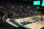 AUGUST 26, 2018  ATHENS, OHIO:<br /> New freshman students arrive and are seated in the Convocation Center before the start of the freshman convocation at Ohio University on August 26, 2018 in Athens, Ohio.