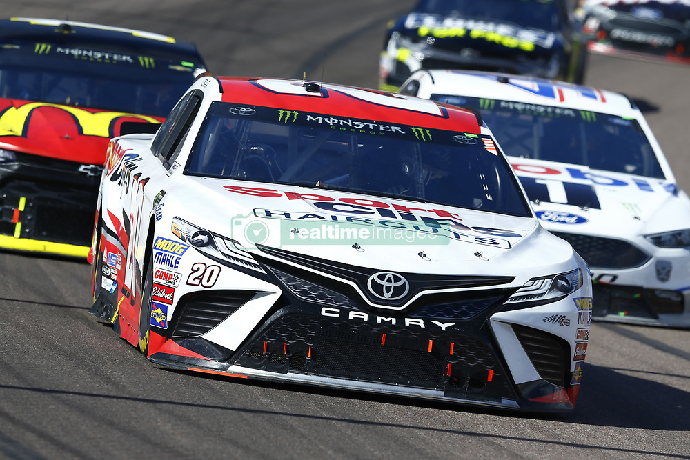 March 11, 2018 - Avondale, Arizona, United States of America - March 11, 2018 - Avondale, Arizona, USA: Erik Jones (20) brings his car through the turns during the Ticket Guardian 500(k) at ISM Raceway in Avondale, Arizona. (Credit Image: © Chris Owens Asp Inc/ASP via ZUMA Wire)