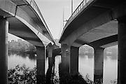 Motorväg genom Stockholm och lokalbro till Stora Essingen