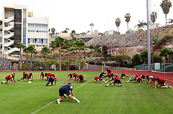 Bristol City stretch before a training match - Mandatory by-line: Matt McNulty/JMP - 19/07/2017 - FOOTBALL - Tenerife Top Training Centre - Costa Adeje, Tenerife - Pre-Season Training