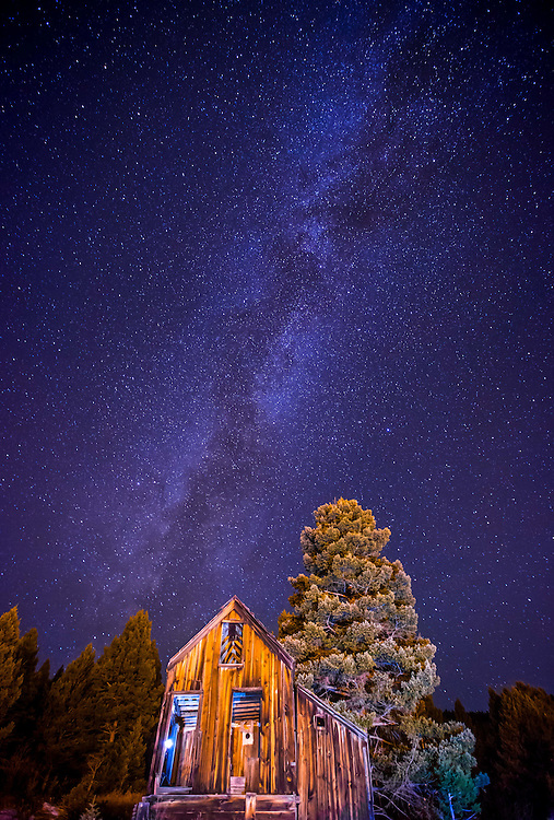 The Milky Way rises over an abandoned church in the small town of Marysville, Montana.<br /> <br /> Once a bustling mining community with over 3000 residents in its heyday, Marysville is still home to a few residents and the Marysville House, a delicious steakhouse with all the trimmings.