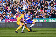 Reading Forward Dennis Rakels (10) during the Sky Bet Championship match between Reading and Preston North End at the Madejski Stadium, Reading, England on 30 April 2016. Photo by Jon Bromley