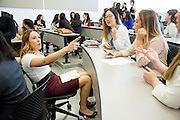 during the first event of the Mihaylo College of Business and Economics Women's Leadership Program at California State University Fullerton  on Friday, Nov. 6, 2015 in Fullerton, California.