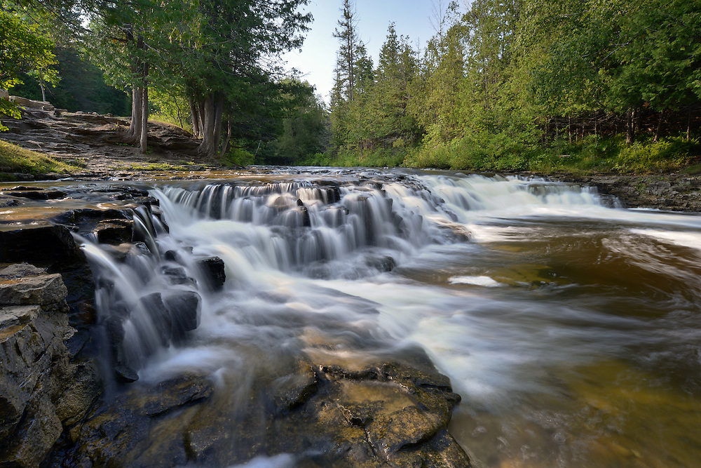 A summer morning at Ocqueoc Falls<br />