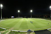 General view of Bay Oval under lights during the Burger King Super Smash Twenty20 cricket match Knights v Stags played at Bay Oval, Mount Maunganui, New Zealand on Wednesday 27 December 2017.<br /> <br /> Copyright photo: &copy; Bruce Lim / www.photosport.nz