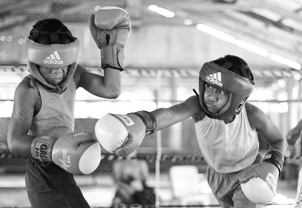 CHILDREN TAKE PART IN A BOXING TRAINING SESSION, SAMOA