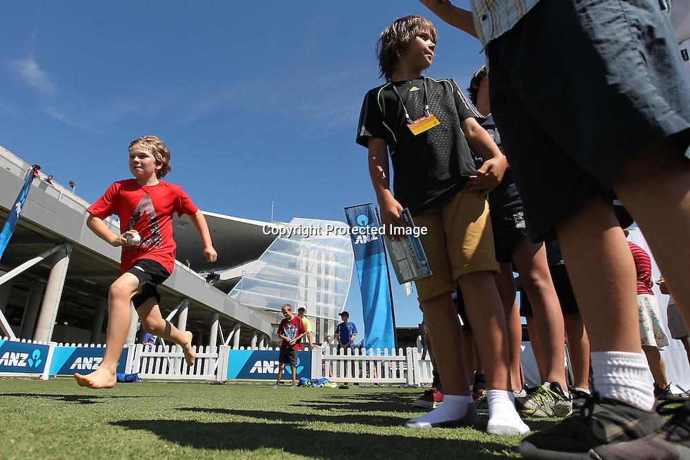 ANZ family fun day. ANZ Cricket series ODI cricket England v Black Caps at Eden Park, Auckland, New Zealand. Saturday, February 23, 2013. Photo: Fiona Goodall/photosport.co.nz