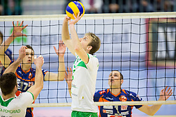 Ivan Colovic of Panvita Pomgrad during volleyball game between OK Panvita Pomgrad and ACH Volley in Final of 1st DOL Slovenian National Championship 2014, on April 15, 2014 in Murska Sobota, Slovenia. Photo by Vid Ponikvar / Sportida
