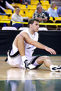 26 November 2005:  Monmouth junior, Dejan Delic, on the floor after a no foul call in the Monmouth University 54-62 loss to Oral Roberts University at the Great Alaska Shootout in Anchorage, Alaska
