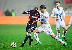 Jefferson De Jesus Santos of HNK Hajduk vs Matej Mitrovic of HNK Rijeka during football match between HNK Rijeka and HNK Hajduk Split in Round #15 of 1st HNL League 2016/17, on November 5, 2016 in Rujevica stadium, Rijeka, Croatia. Photo by Vid Ponikvar / Sportida