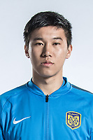 **EXCLUSIVE**Portrait of Chinese soccer player Yang Jiawei of Jiangsu Suning F.C. for the 2018 Chinese Football Association Super League, in Nanjing city, east China's Jiangsu province, 23 February 2018.
