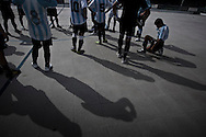 Entrenamientos de la seleccion argentina de futbol no vidente (Los Murcielagos), en el Centro Nacional de Alto Rendimiento Deportivo (CENARD), previos al mundial de futbol para invidentes realizado en agosto del 2010, en Hereford, Inglaterra.