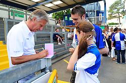 Bristol Rovers Manger, John Ward signs an autograph for fans - Photo mandatory by-line: Dougie Allward/JMP - Tel: Mobile: 07966 386802 21/07/2013 - SPORT - FOOTBALL - Bristol -  Bristol Rovers Fun Day