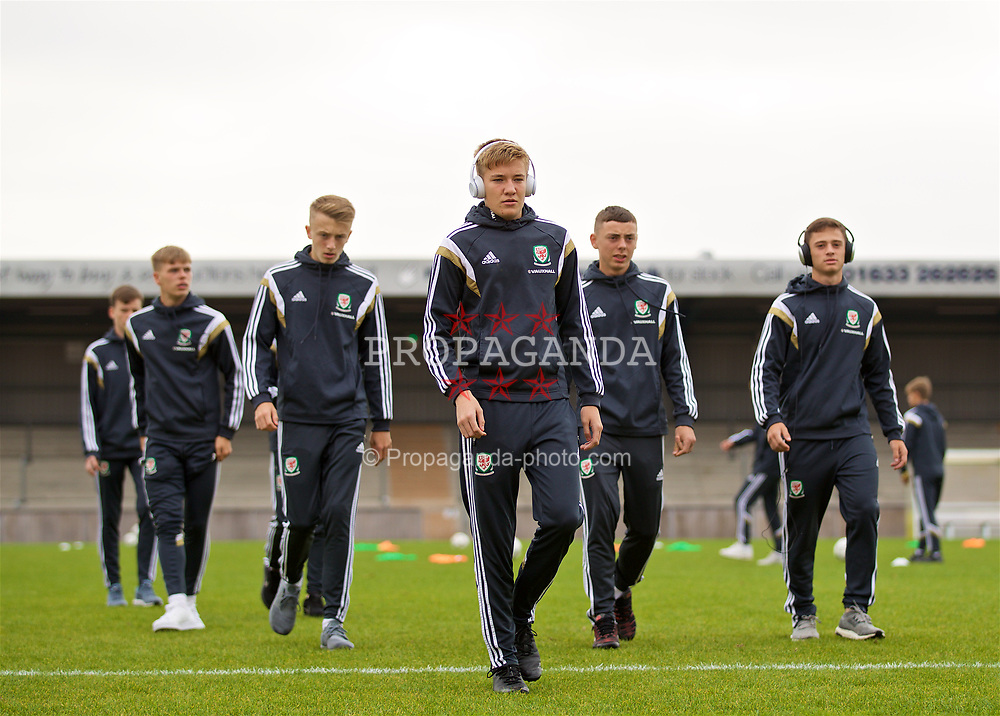 NEWPORT, WALES - Sunday, September 24, 2017: Wales' goalkeeper Matthew Turner on the pitch ahead of an Under-16 International friendly match between Wales and Gibraltar at the Newport Stadium. (Pic by David Rawcliffe/Propaganda)