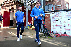 Jonny Burn of Bristol Rovers and Dominic Telford of Bristol Rovers arrive at The Northern Commercials Stadium (Valley Parade), home of Bradford City - Mandatory by-line: Robbie Stephenson/JMP - 02/09/2017 - FOOTBALL - Northern Commercials Stadium - Bradford, England - Bradford City v Bristol Rovers - Sky Bet League One