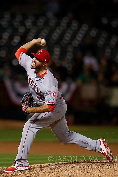 OAKLAND, CA - APRIL 04:  Blake Parker #53 of the Los Angeles Angels of Anaheim pitches against the Oakland Athletics during the seventh inning at the Oakland Coliseum on April 4, 2017 in Oakland, California. The Los Angeles Angels of Anaheim defeated the Oakland Athletics 7-6. (Photo by Jason O. Watson/Getty Images) *** Local Caption *** Blake Parker
