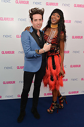 NICK GRIMSHAW and NAOMI CAMPBELL at the Glamour Women of The Year Awards in Association with Next held in Berkeley Square Gardens, Berkeley Square, London on 3rd June 2014.