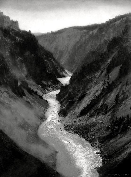 Canyon of Yellowstone, Yellowstone Park, Wyoming, 1926