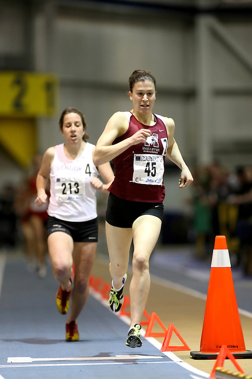 Windsor, Ontario ---14/03/09--- Jillian Wyman of  McMaster University competes in the Women's 1500m Final at the CIS track and field championships in Windsor, Ontario, March 14, 2009..Sean Burges Mundo Sport Images
