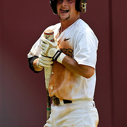 June 03, 2011; Tallahassee, FL, USA;  UCF Knights second baseman Travis Shreve (1) reacts after striking out in the ninth inning against the Alabama Crimson Tide in the eighth inning during the 2011 Tallahassee Regional at Dick Howser Stadium. Alabama defeated UCF 5-3.  Mandatory Credit: Derick E. Hingle