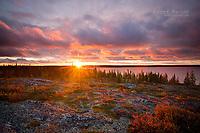 Sunrise at Ennadai Lake, Nunavut, Canada