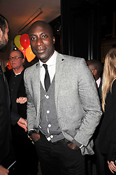 OZWALD BOATENG at the launch party of 'Songs For Sorrow' hosted by Alber Elbaz and Mika held at Lanvin, 32 Savile Row, London on 11th November 2009.