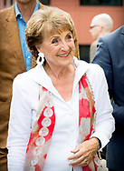 19-6-2018 THE HAGUE - Princess Margriet with her son Prins Pieter-Christiaan during a Viritual Reality tour during the opening of the new association office of the Dutch Red Cross on the Anna van Saksenlaan. copyreighjt robin utrecht <br /> Prinses Margriet opent nieuwe verenigingskantoor Rode Kruis<br /> Prinses Margriet met haar zoon Prins Pieter-Christiaan tijdens een Viritual Reality tour tijdens de opening van het nieuwe verenigingskantoor van het Nederlandse Rode Kruis aan de Anna van Saksenlaan.