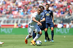 July 22, 2018 - Santa Clara, California, United States - Santa Clara, CA - Sunday July 22, 2018: Quincy Amarikwa during a friendly match between the San Jose Earthquakes and Manchester United FC at Levi's Stadium. (Credit Image: © Maciek Gudrymowicz/ISIPhotos via ZUMA Wire)