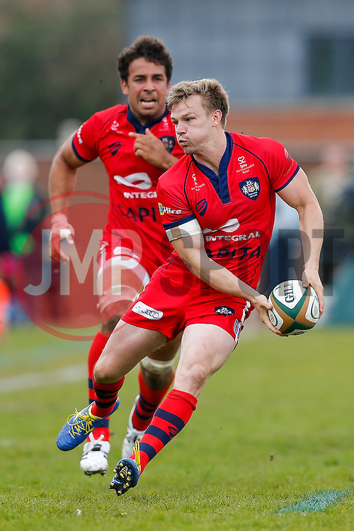 Bristol Rugby Scrum-Half Dwayne Peel (capt) breaks to set up a try for Flanker Marco Mama - Photo mandatory by-line: Rogan Thomson/JMP - 07966 386802 - 10/05/2015 - SPORT - RUGBY UNION - Abbeydale Park, Sheffield - Rotherham Titans v Bristol Rugby - Greene King IPA Championship Play Off Semi Final Second Leg.