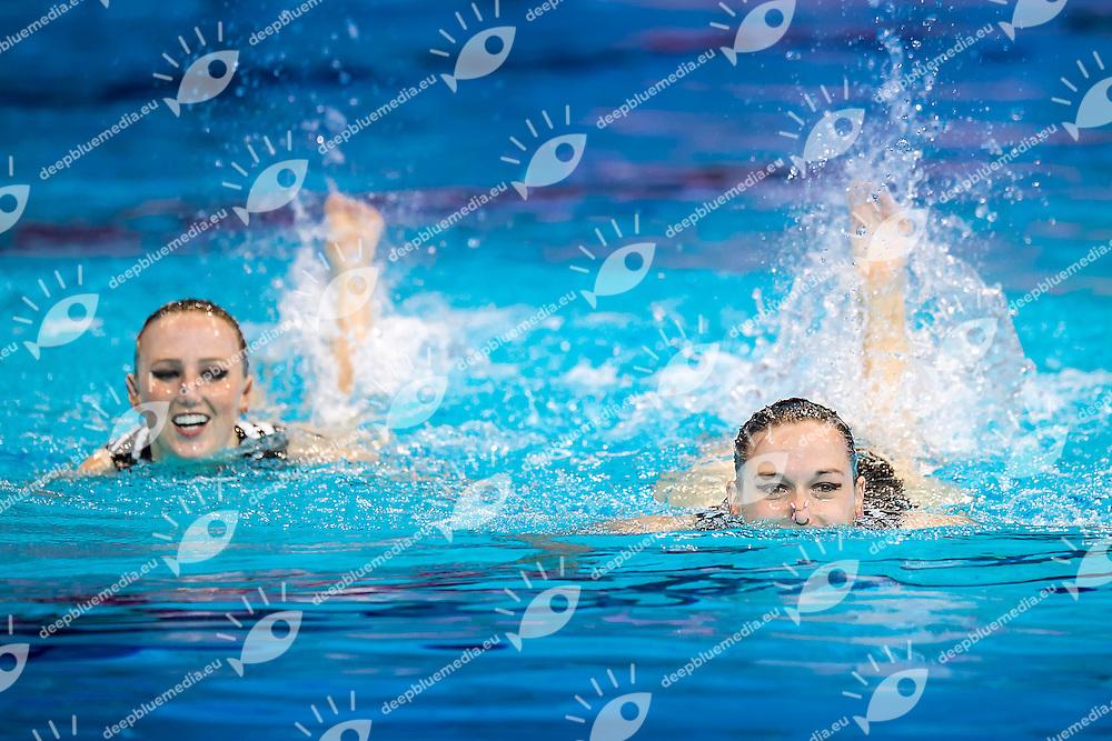 ZEPPENFELD Edith  GER JESKE Wiebke  GER<br /> London, Queen Elizabeth II Olympic Park Pool <br /> LEN 2016 European Aquatics Elite Championships <br /> Synchronised Swimming Synchro Duet Tech<br /> Day 06 13-05-2016<br /> Photo Giorgio Scala/Deepbluemedia/Insidefoto