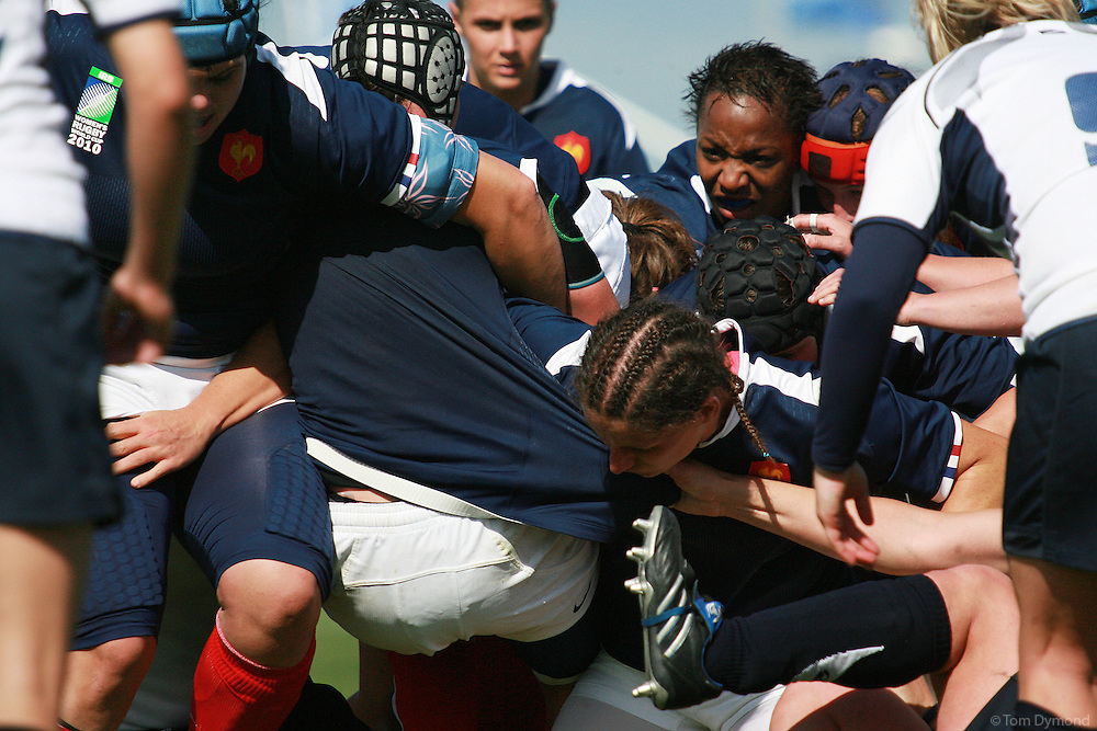 Rugby - Women's Rugby World Cup - Surrey Sports Center.French players.France Vs Scotland, Womens's Rugby World Cup at Surrey sports Park, Guildford.