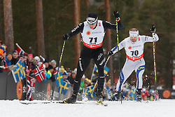 25.02.2015, Lugnet Ski Stadium, Falun, SWE, FIS Weltmeisterschaften Ski Nordisch, Falun 2015, Langlauf, Herren, 15km, im Bild DARIO COLOGNA // during the Mens 15km Cross Country Race of the FIS Nordic Ski World Championships 2015 at the Lugnet Ski Stadium in Falun, Sweden on 2015/02/25. EXPA Pictures © 2015, PhotoCredit: EXPA/ Newspix/ Radoslaw Jozwiak<br /> <br /> *****ATTENTION - for AUT, SLO, CRO, SRB, BIH, MAZ, TUR, SUI, SWE only*****