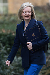 © Licensed to London News Pictures. 28/02/2017. LONDON, UK.  Lord Chancellor and Secretary of State for Justice, Liz Truss arrives for a cabinet meeting at 10 Downing Street.  Photo credit: Vickie Flores/LNP