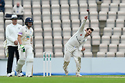 Daryl Mitchell of Worcestershire bowling during the Specsavers County Champ Div 1 match between Hampshire County Cricket Club and Worcestershire County Cricket Club at the Ageas Bowl, Southampton, United Kingdom on 13 April 2018. Picture by Graham Hunt.