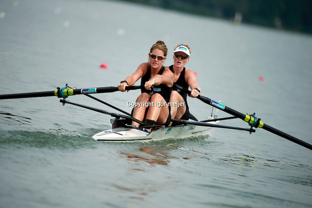 23 July 2014. NZL PRENDERGAST G,GOWLER K<br /> 2014 World Rowing U23 Championships in Verese, Italy. 23-27 July 2014.<br /> Photo: Igor Meijer/www.photosport.co.nz