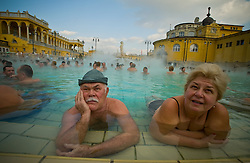 "Budapest, Hungary has long been renowned for its health spas and thermal springs but recently it has been discovered that many of these springs are connected underground by a huge ""thermal lake."" Divers are currently exploring the lake and the city is planning to ask for World Heritage status and may open the lake to the public.  The ancient Roman settlement Aquincum, located on the outskirts of Budapest is the site of the very first hot mineral water bath complex."