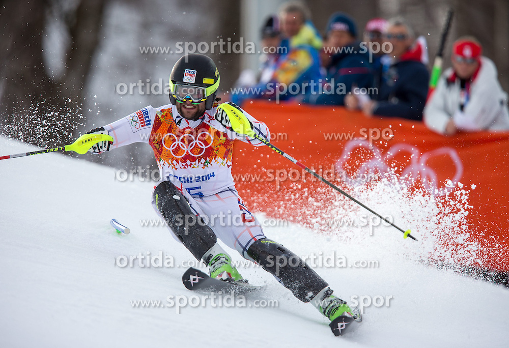 14.02.2014, Rosa Khutor Alpine Center, Krasnaya Polyana, RUS, Sochi 2014, Super- Kombination, Herren, Slalom, im Bild Martin Vrablik (CZE) // Martin Vrablik of Czech Republic in action during the Slalom of the mens Super Combined of the Olympic Winter Games 'Sochi 2014' at the Rosa Khutor Alpine Center in Krasnaya Polyana, Russia on 2014/02/14. EXPA Pictures © 2014, PhotoCredit: EXPA/ Johann Groder