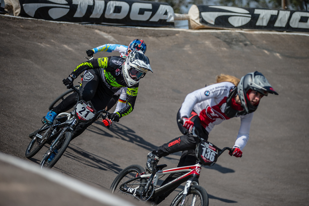 #21 (REYNOLDS Lauren) AUS at Round 10 of the 2019 UCI BMX Supercross World Cup in Santiago del Estero, Argentina