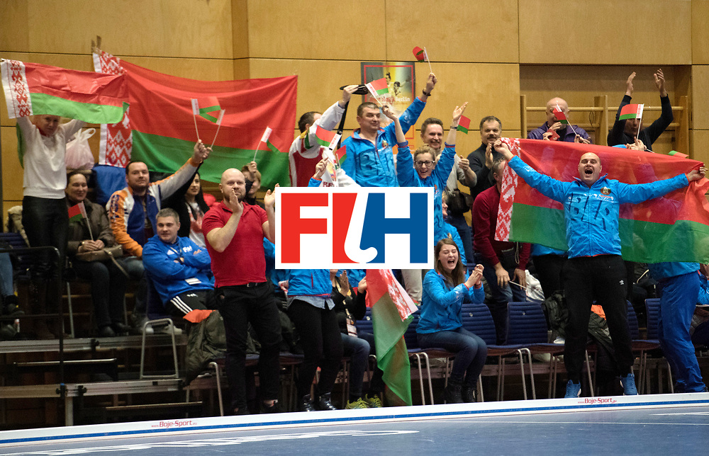 BERLIN - Indoor Hockey World Cup<br /> Belarus - Poland<br /> foto: Fans<br /> WORLDSPORTPICS COPYRIGHT FRANK UIJLENBROEK