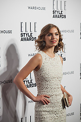© Licensed to London News Pictures. 18/02/2014. London, UK. Arizona Muse arrives on the red carpet for the Elle Style Awards on the Embankment in central London. Photo credit : Andrea Baldo/LNP