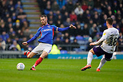Tom Naylor of Portsmouth in action during the EFL Sky Bet League 1 match between Portsmouth and Shrewsbury Town at Fratton Park, Portsmouth, England on 15 February 2020.