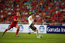 BANGKOK, THAILAND - Sunday, July 28, 2013: Liverpool's Iago Aspas scores the second goal against Thailand XI during a preseason friendly match at the Rajamangala National Stadium. (Pic by David Rawcliffe/Propaganda)
