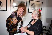 DAWN GIBBINS MBE; JANE BARNES, Modern Muse launch. Adam St. club. WC2. 25 November 2010. -DO NOT ARCHIVE-© Copyright Photograph by Dafydd Jones. 248 Clapham Rd. London SW9 0PZ. Tel 0207 820 0771. www.dafjones.com.
