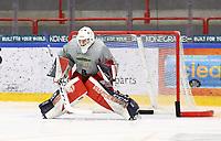 2020-02-12 | Ljungby, Sweden: Huddinge IK (1) Rasmus Hedström during the game between IF Troja / Ljungby and Huddinge IK at Ljungby Arena ( Photo by: Fredrik Sten | Swe Press Photo )<br /> <br /> Keywords: Ljungby, Icehockey, HockeyEttan, Ljungby Arena, IF Troja / Ljungby, Huddinge IK, fsth200212, ATG HockeyEttan, Allettan