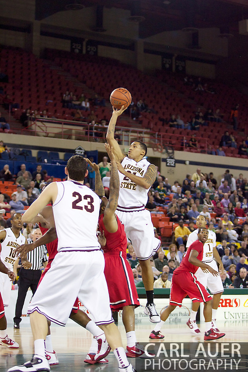November 27th, 2010:  Anchorage, Alaska - Arizona State's Keala King (21) floats a shot up in the Sun Devil's 58-67 loss to St. Johns in the championship game of the Great Alaska Shootout.