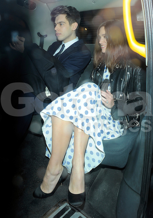 Keira Knightley and husband James Righton attend Harvey Weinstein's pre-BAFTA dinner at Little House restaurant in London, UK. 14/02/2014<br />BYLINE MUST READ : GOTCHAIMAGES.COM<br /><br />Copyright by &copy; Gotcha Images Ltd. All rights reserved.<br />Usage of this image is conditional upon the acceptance <br />of Gotcha Images Ltd, terms and conditions available at<br />www.gotchaimages.com