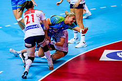 02-12-2019 JAP: Slovenia - Norway, Kumamoto<br /> Second day 24th IHF Women's Handball World Championship, Slovenia lost the second match against Norway with 20 - 36. Aneja Beganovic #41 of Slovenia, BAKKERUD Ingvild Kristiansen of Norway